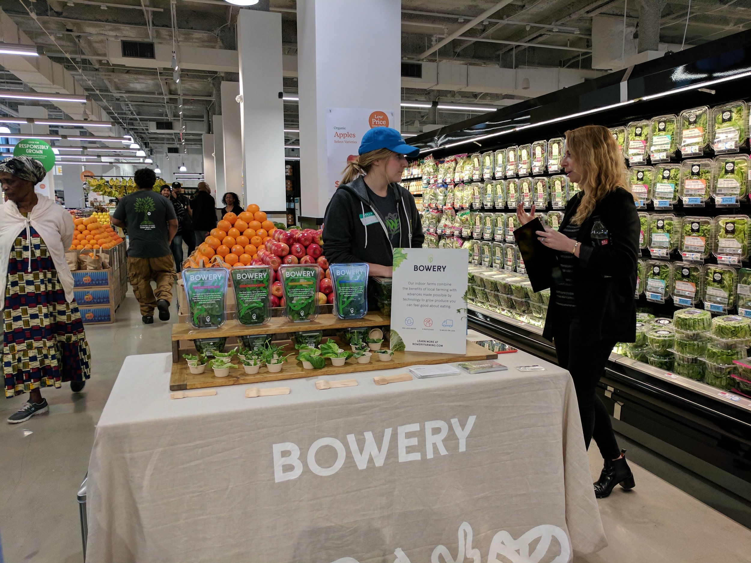 Bowery, a Kearny based hydroponic farm, is one of the local vendors found in the Whole Foods Newark Market.