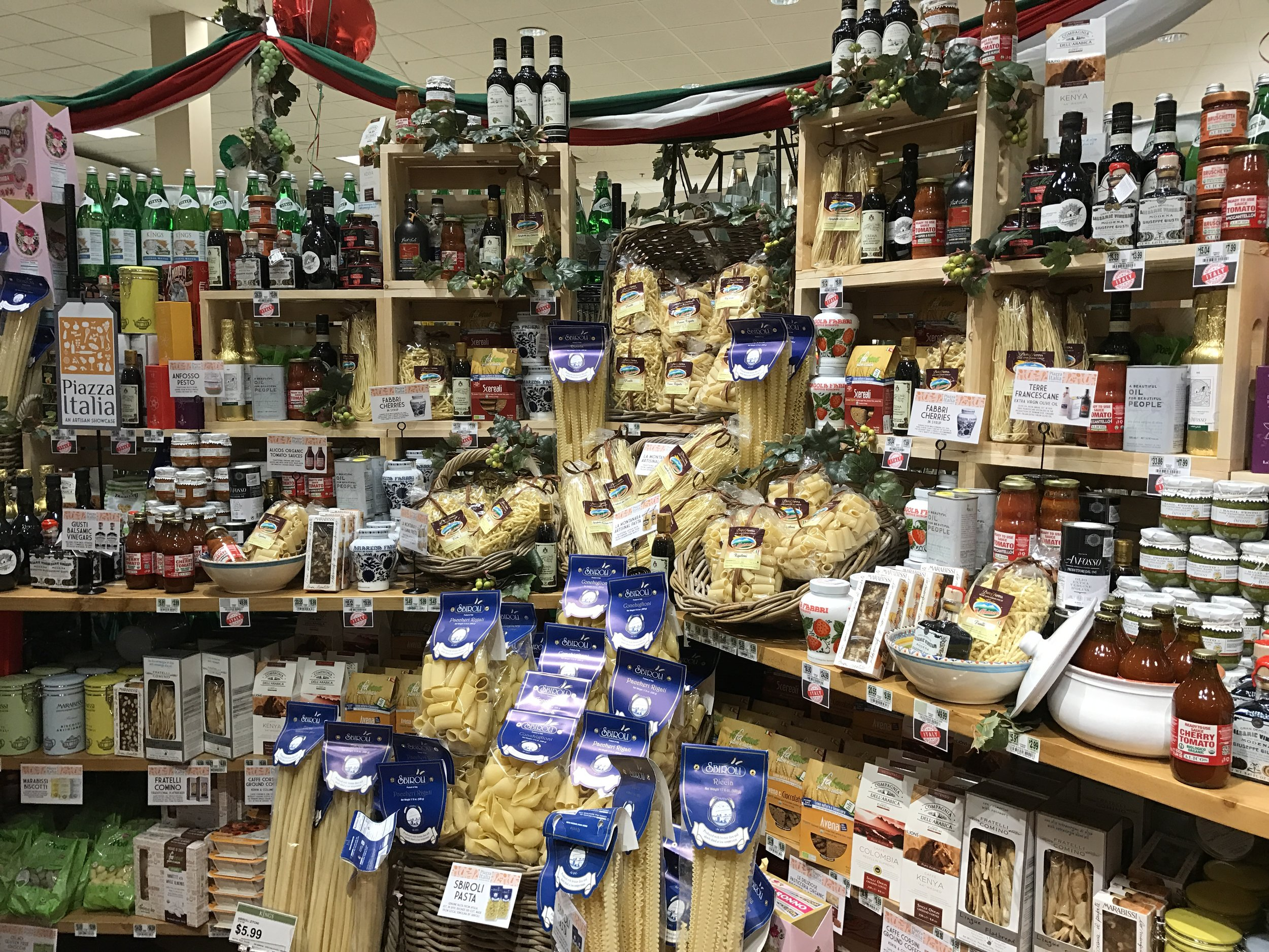"The ""Piazza Italia."" A collection of artisanal Italian products, exclusive to Kings."
