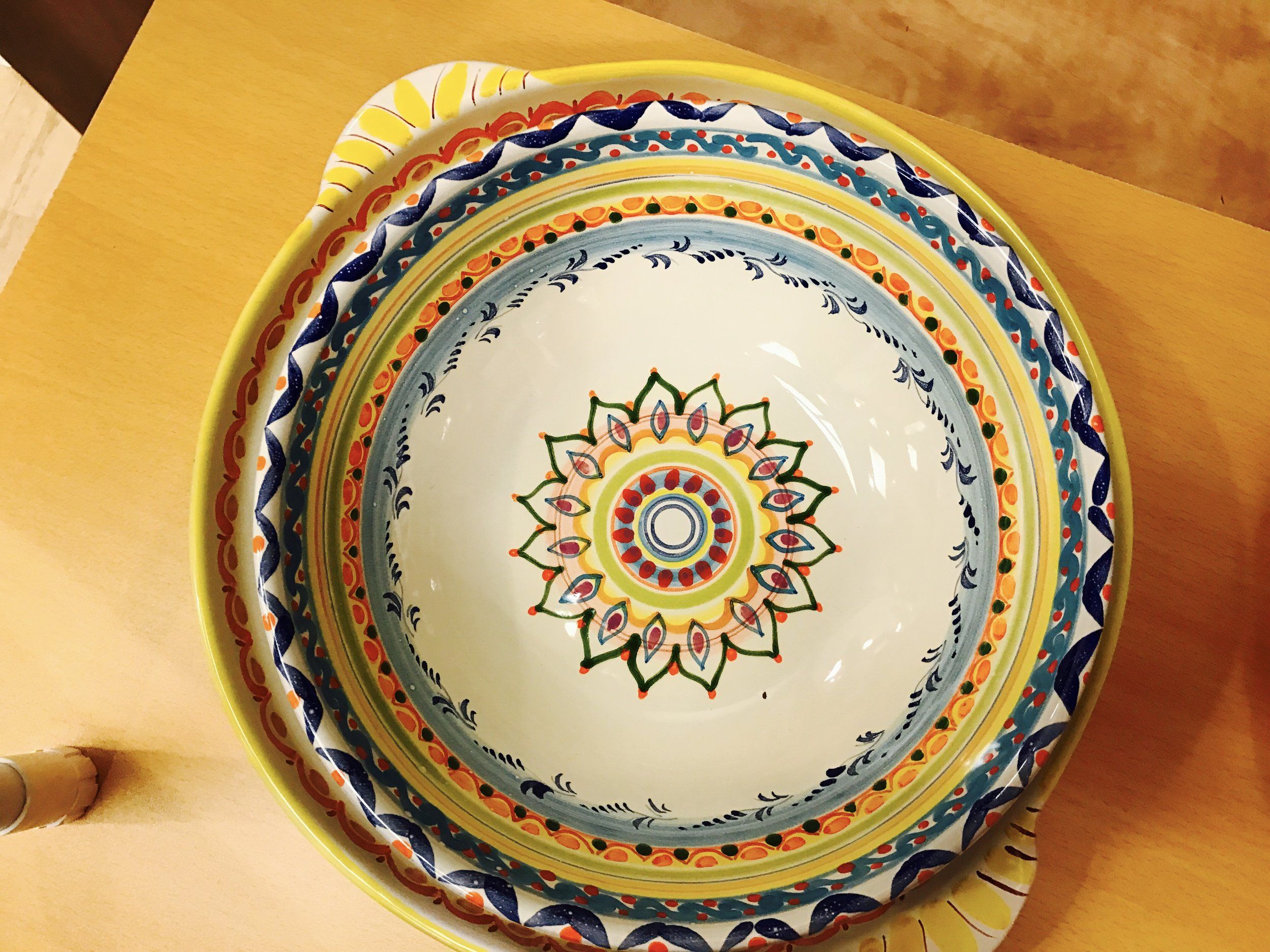 Beyond food - Kings is also importing hand-painted ceramics.