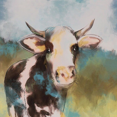 Never painted a cow before, but I'm always up for a challenge!