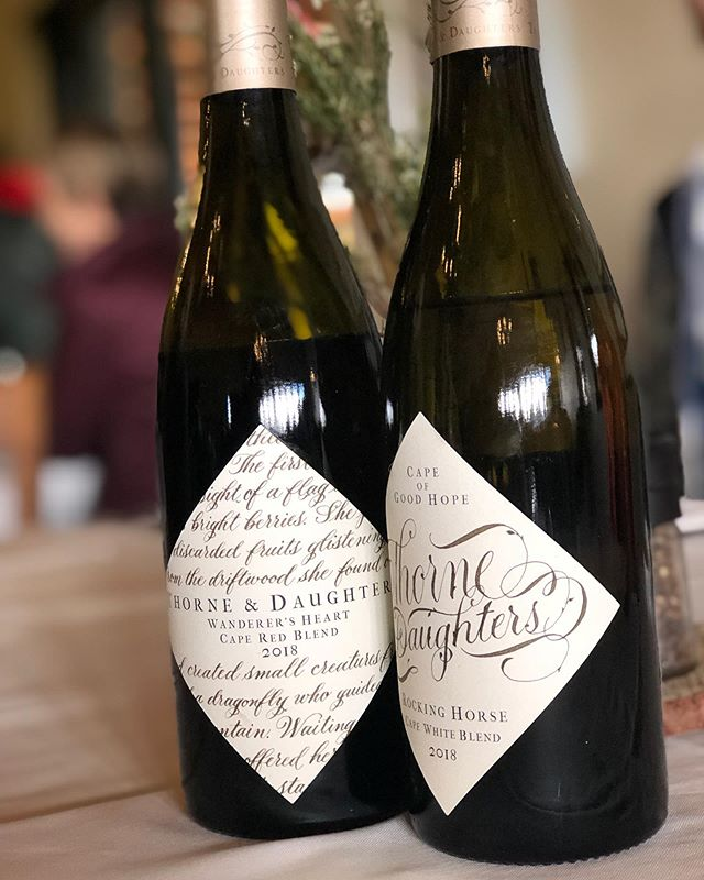 Enjoyed Friday lunch and tasting of some of the 2018 wines from  @thorneanddaughters. Rocking Horse is showing great minerality. The Wanderer's Heart has a darker bass note than before, according to John due to a little Syrah added to the blend.  #thorneanddaughters #rockinghorse #wanderersheart #southafricanwine #sommlife #westerncape #newwavesa