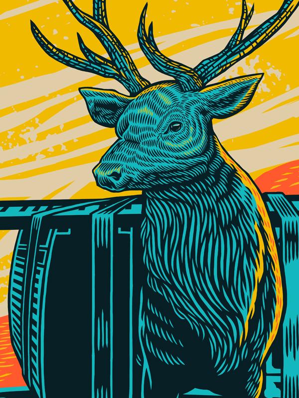 Detail of Elk Poster