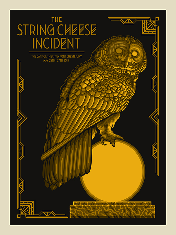 String Cheese Incident | Port Chester, NY 2019 | 18x24 Screen print. Ed of 225