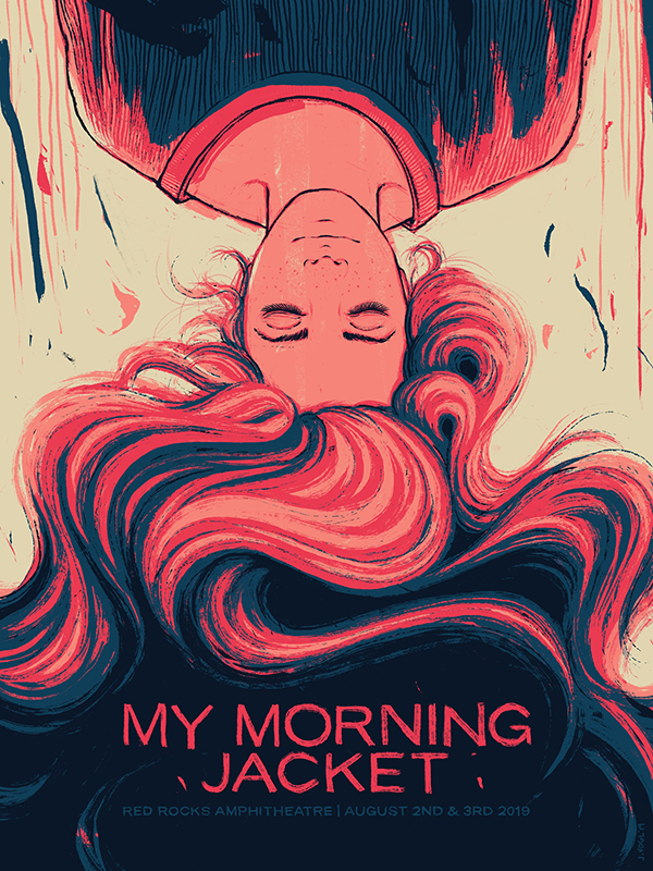 My Morning Jacket | Red Rocks | 18x24 Screen print. Ed of 550