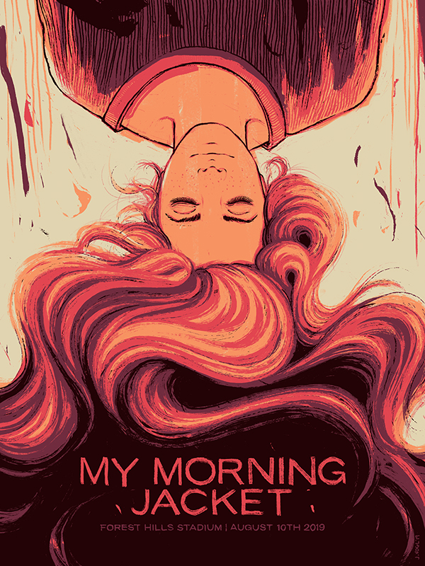 My Morning Jacket | Forest Hills | 18x24 Screen print. Ed of 350