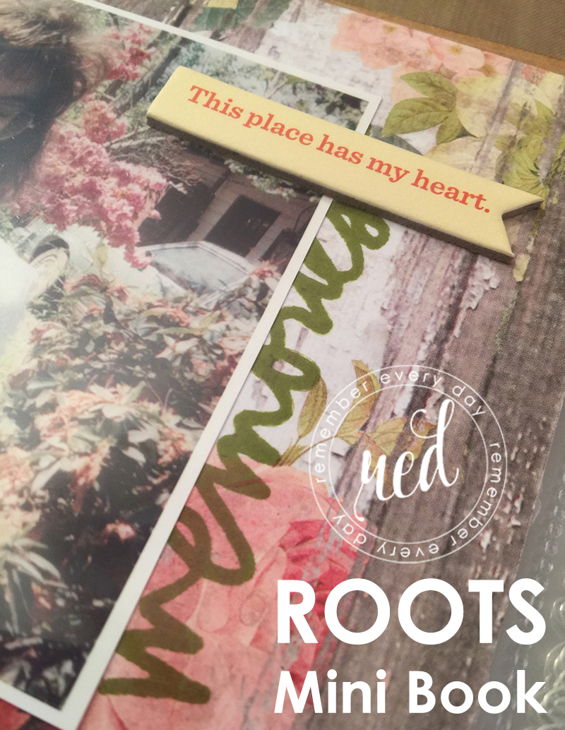 "Using the Ali Edwards ""Roots"" Story and Stamp Kits in a Mini Album - Project 1 of 6 in this Series"