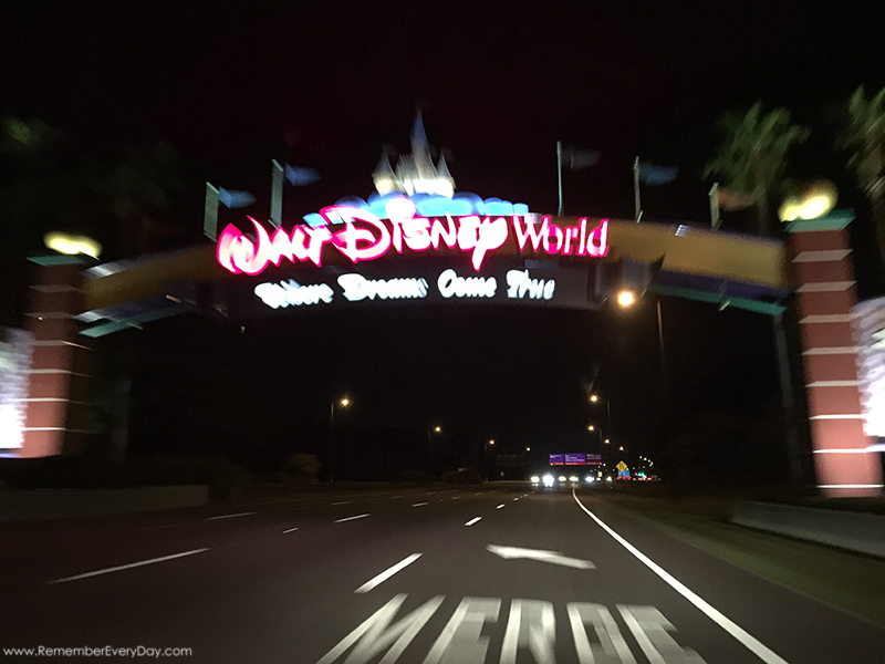 This is what the welcome sign looks like at full speed. :) I love how this picture came out.