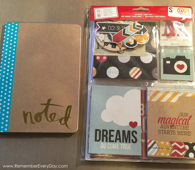 And so it begins...  Notebook by Heidi Swapp and the Sn@p Pack by SN@P.