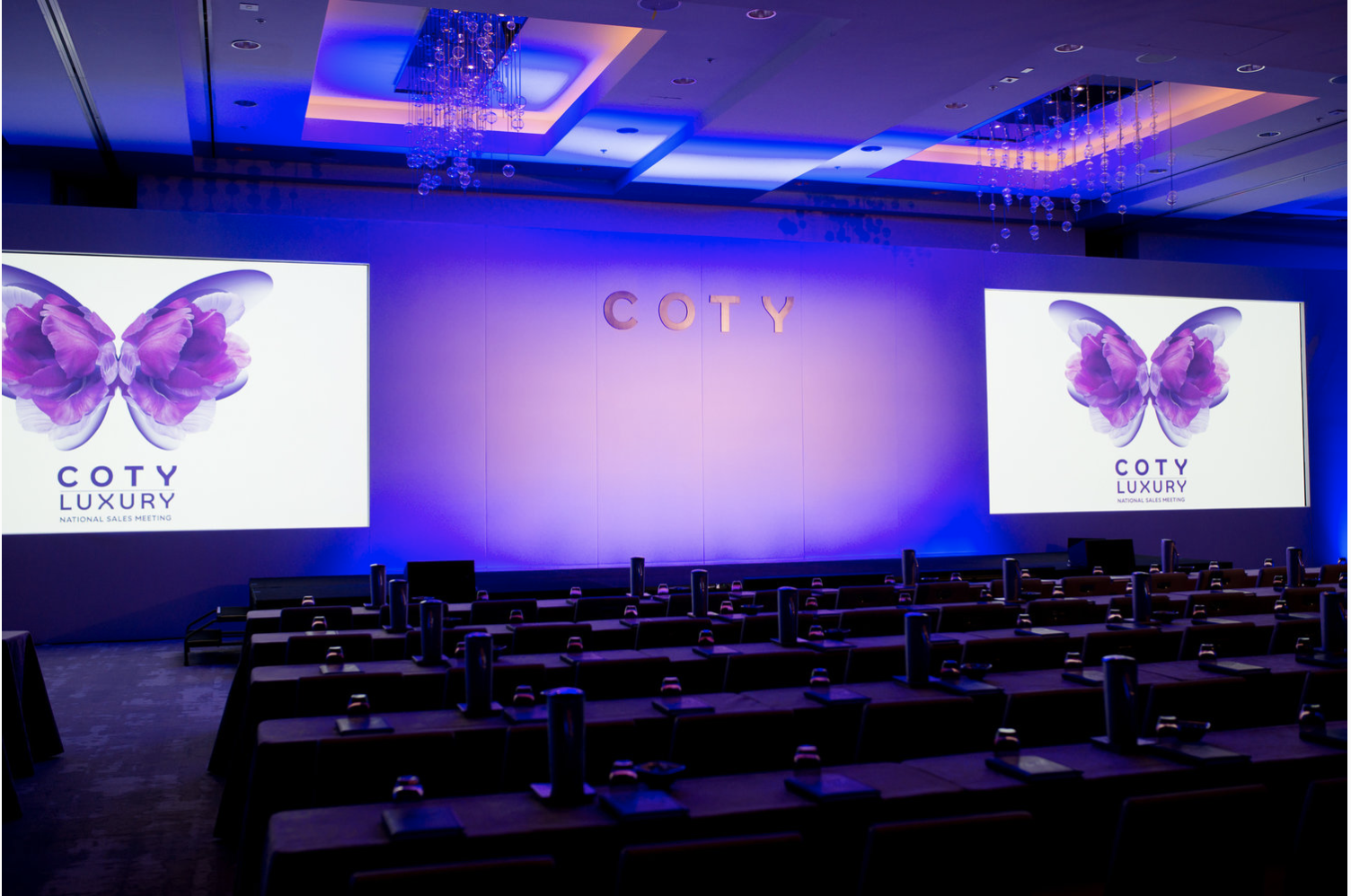 COTY - LDJ has partnered with COTY beauty division on their National Sales Meetings since 2013. LDJ manages all aspects of the event including venue selection, registration, guest experience and overall technical production of the main stage and breakouts.