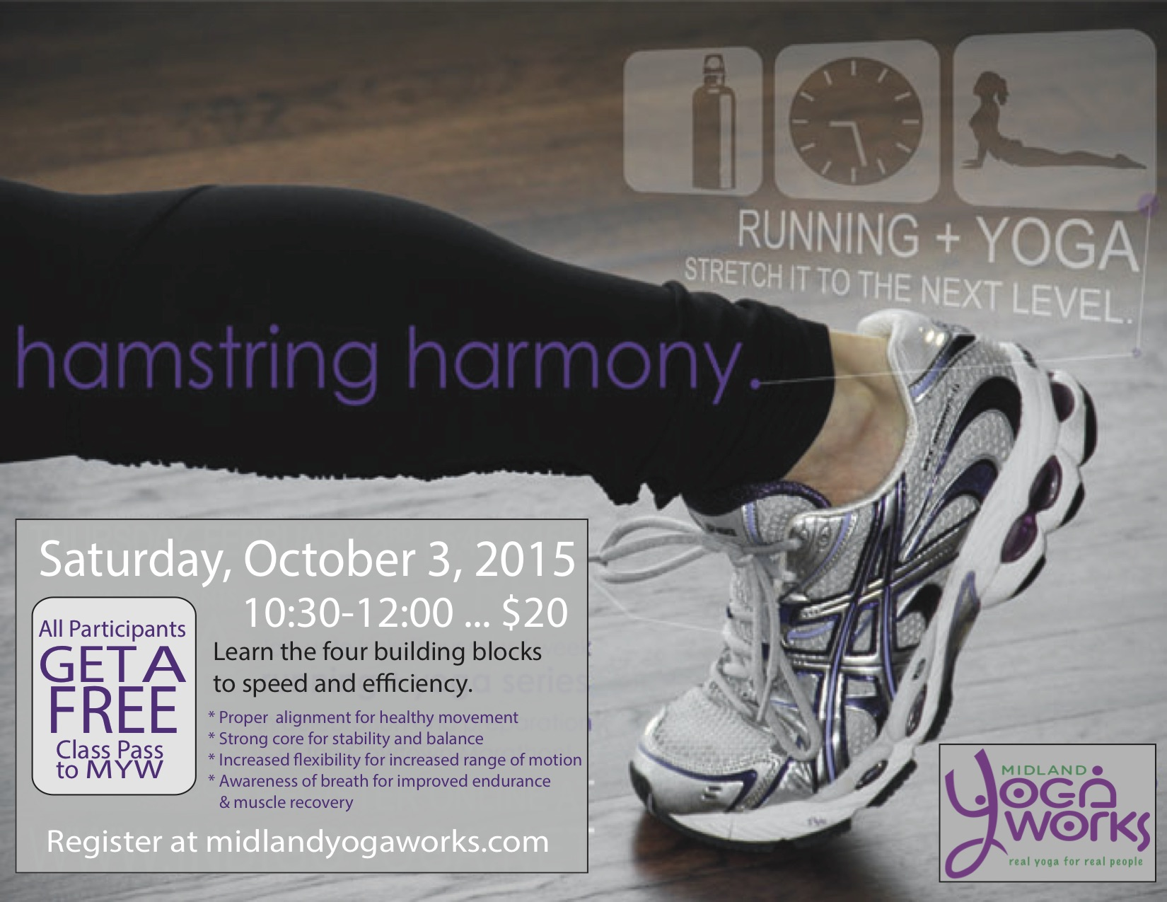 Get your morning run in and then come join us.