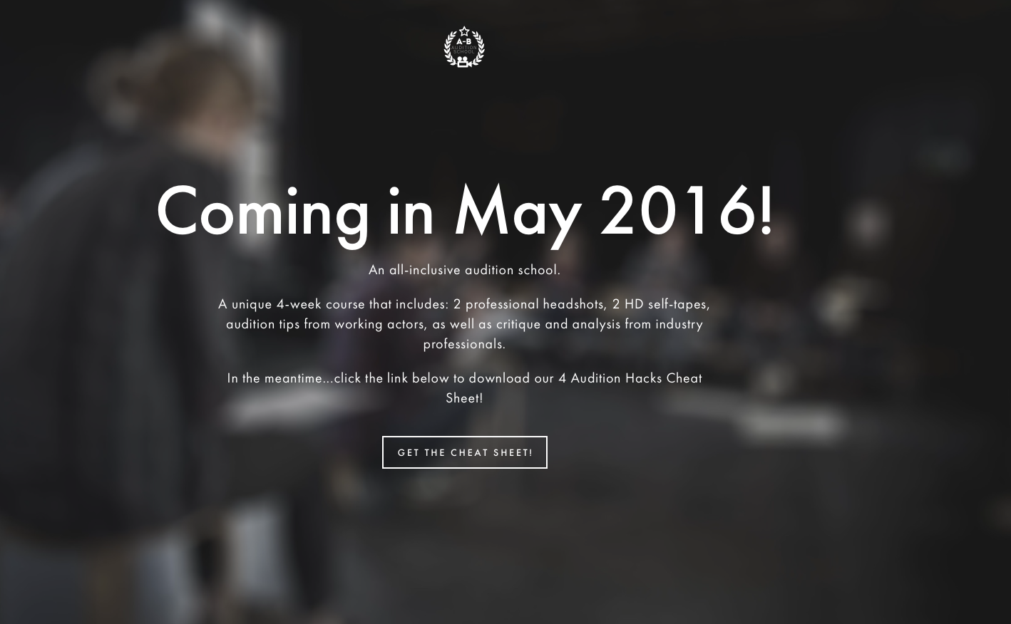Landing Page - Audition School
