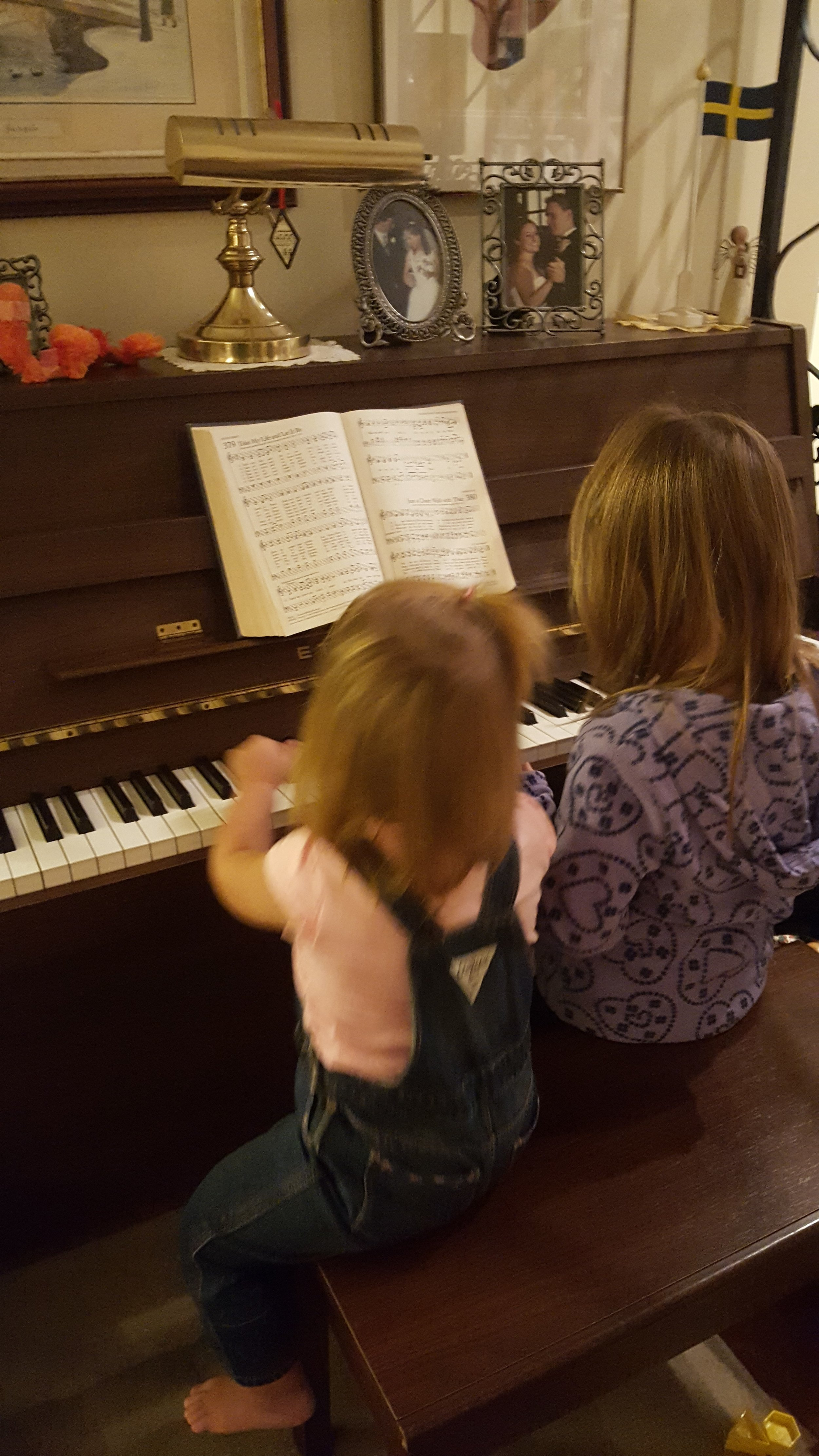 Two of my granddaughters making beautiful music!