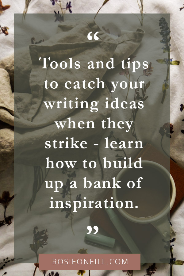 How to organise your writing ideas.