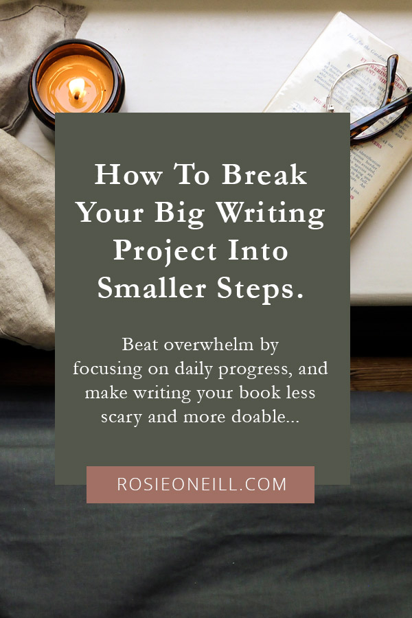How to break your big writing project down into smaller steps.