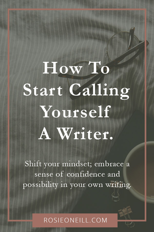 Shifting your mindset and giving yourself permission to be called a writer is huge for making progress and gaining confidence in your writing. Taking yourself and your writing more seriously makes it easier to commit to those writing sessions and harder for guilt or self doubt to set in. Recognise that there is no qualification or level or expertise better than the experience of simply writing.