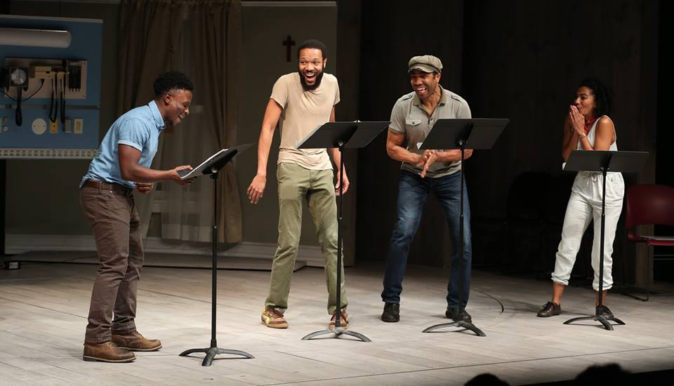AMERICA V. 2.1  / Director / 2016 Dramatists Guild Fund Fellows Presentation at Playwrights Horizons  Written by Stacey Rose / Performed by Gregory Haney, Jason Veasey, Edward O'Blenis, and Toni Ann DeNoble  September 19, 2016 // PLAYWRIGHTS HORIZONS