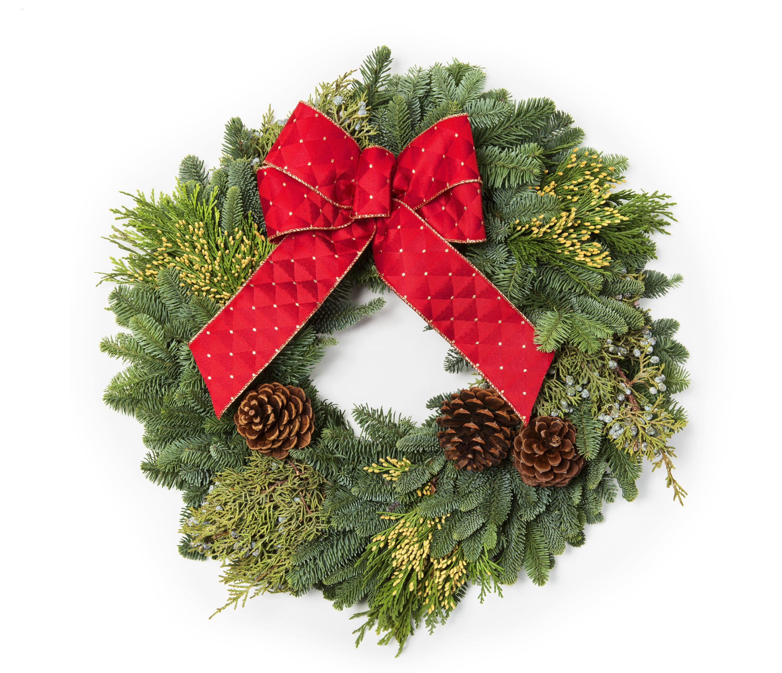 "18"" Mixed Evergreen Wreath"