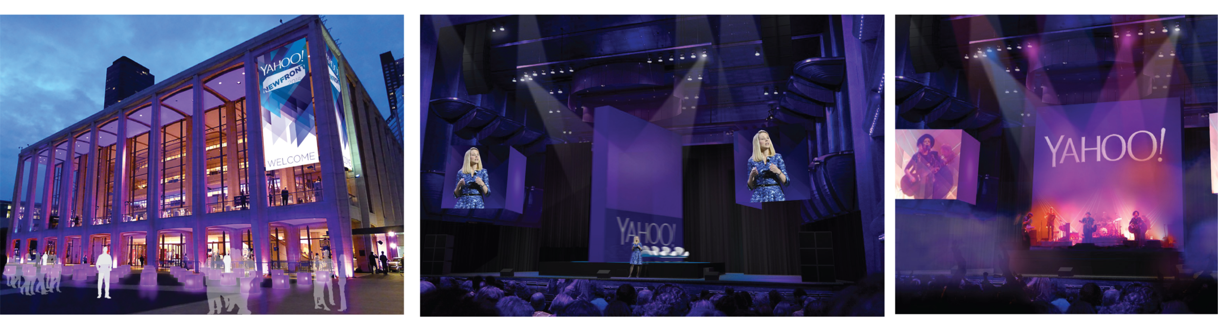 These images were the initial renders which won the Yahoo NewFront Business.
