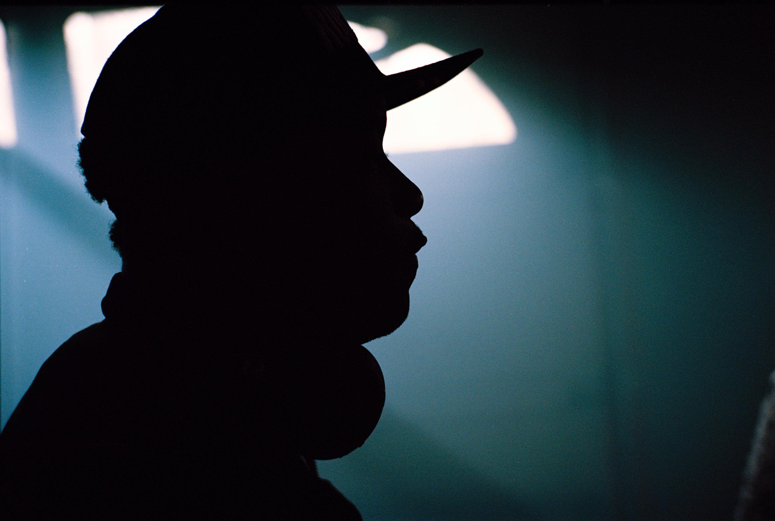 "Writer/Director Stefon Bristol on the set of ""See You Yesterday""  Kodak Ektar (35mm)"
