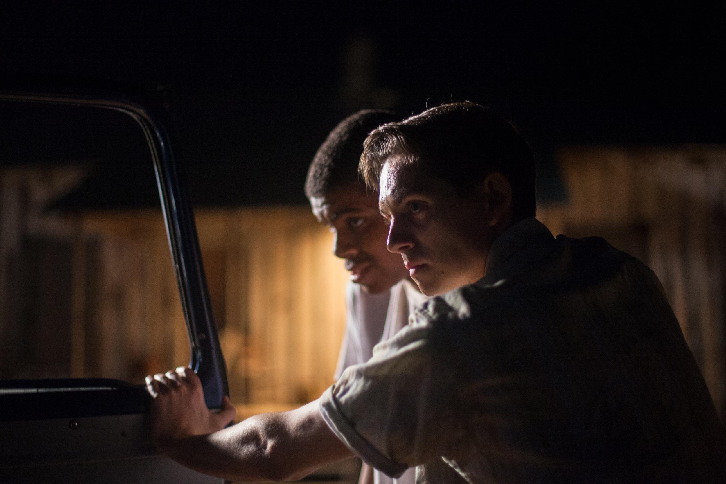 "Joshua Wright as Emmett Till and Ethan Leaverton as Roy Bryant in ""My Nephew Emmett""  Canon 5d"