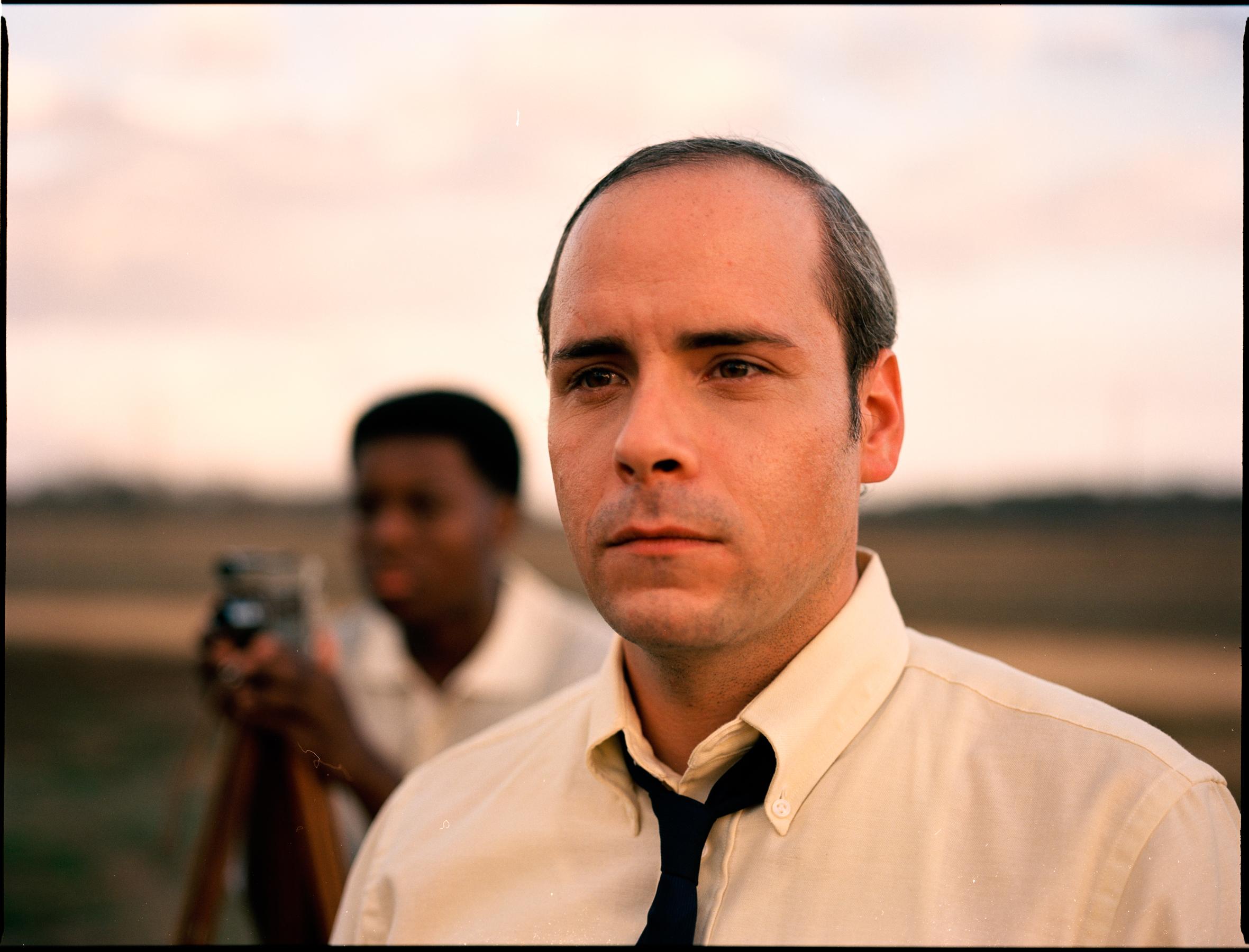 "Will Perkins as the journalist and Malcolm Driscoll as Jake Talbert in ""My Nephew Emmett""  645 Kodak Ektar (Medium Format)"