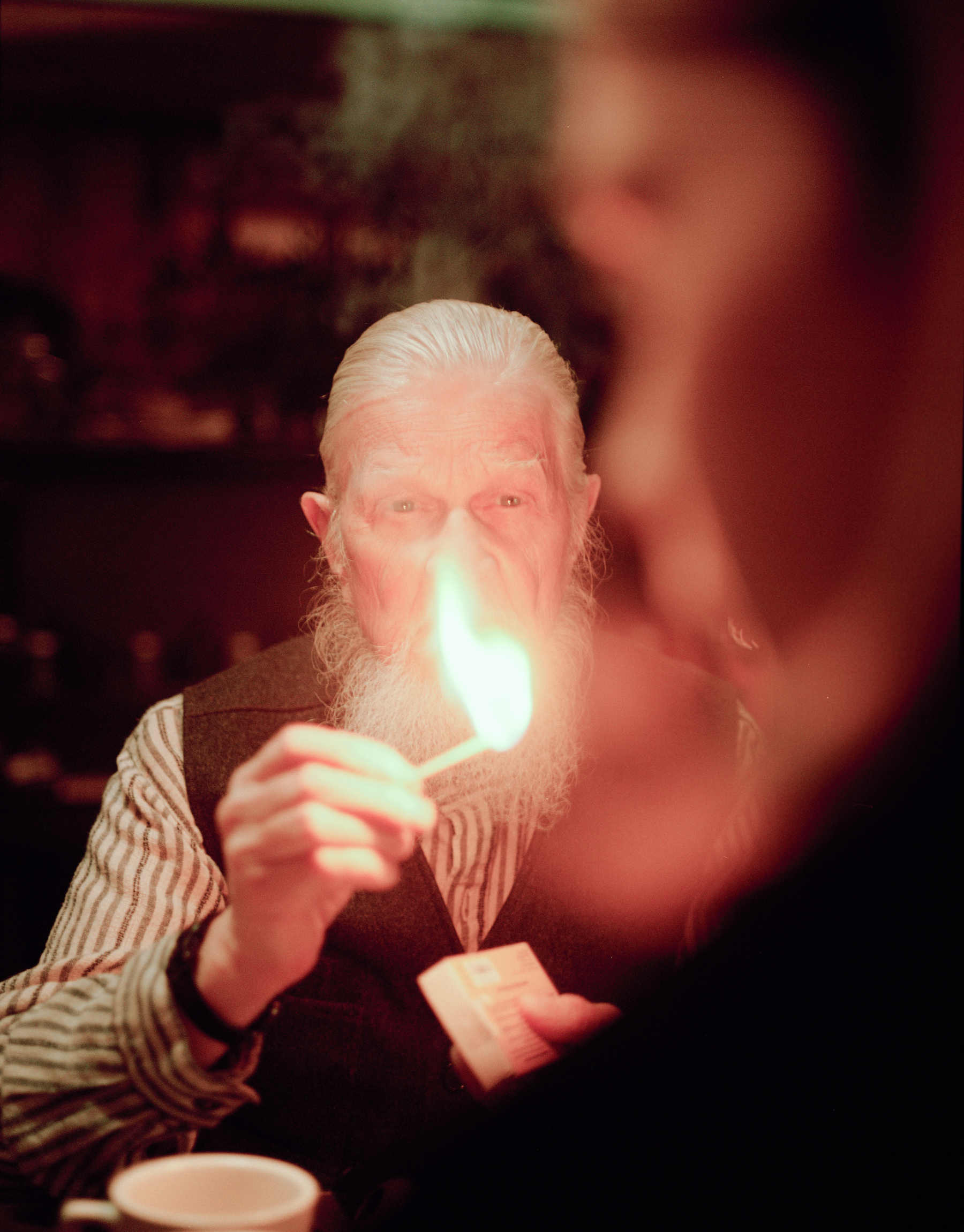 "Robert W. Smith as The Druggist and Daniel Mitura as Sangstrom in ""The Hobbyist""  645 Kodak Portra (Medium Format)"