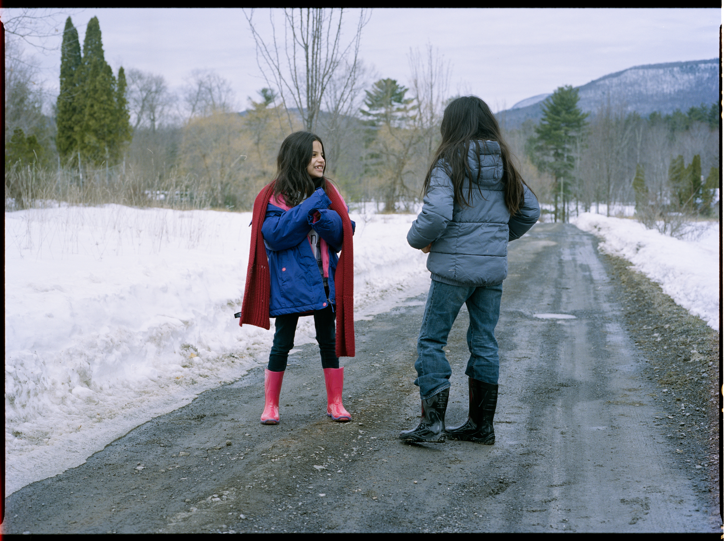 Liliana and Aleena Toro as Cora and Lyle  645 Kodak Portra (Medium Format)