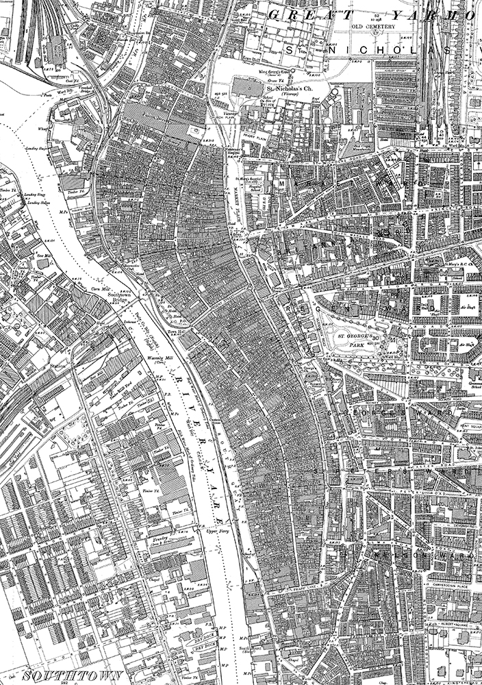 Great Yarmouth 1904 OS Map