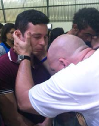 Chad Daniel ministering in Brazil