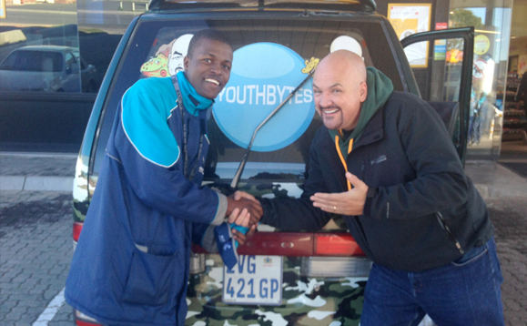 This young man recognized us from our Daystar program which airs in South Africa.