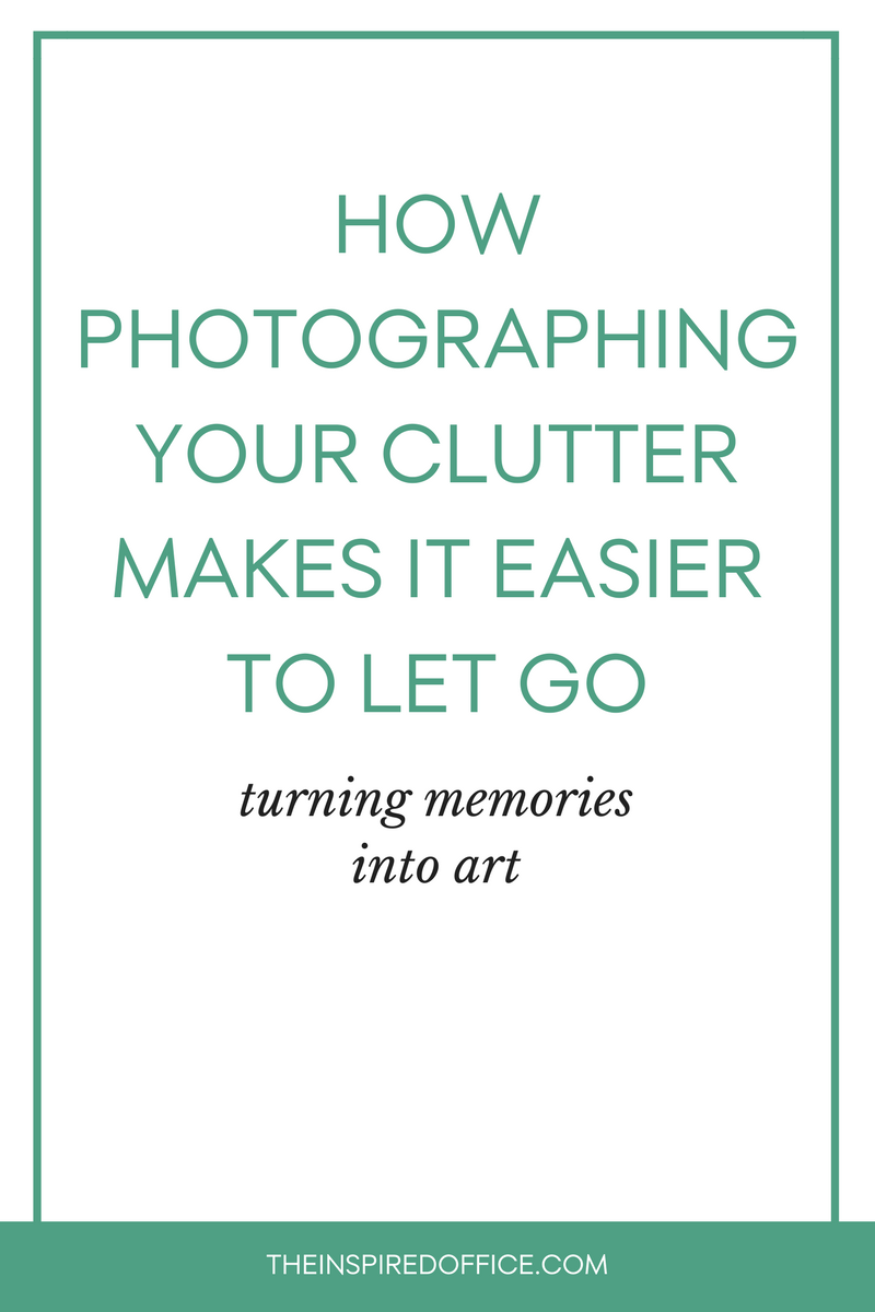 Photographing memorabilia is a great way to keep a memory alive, yet let it go. See why this works and start decluttering!