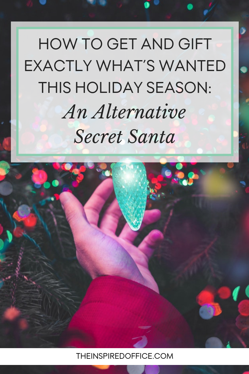 As the holiday season approaches, check out these tips to give and get exactly what's needed - an alternative secret Santa.