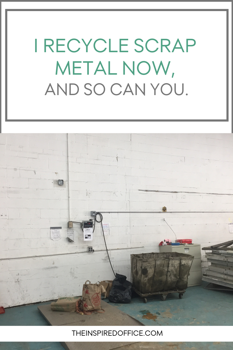 Kacy Paide, professional organizer in the Washington DC/Silver Spring, MD area, shares how to responsibly recycle metal (electronics, old wires, chargers, etc.).