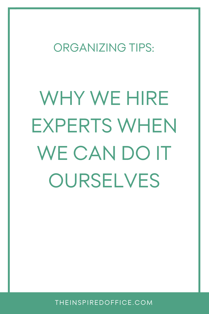 Daniel Levitin, author of The Organized Mind, sheds light on why we hire experts when we already possess the expertise or skills to do it ourselves.