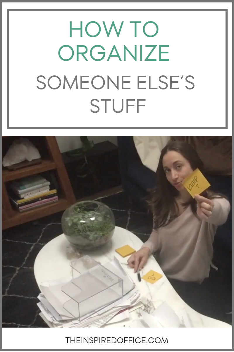 Kacy Paide, organizer from Washington, D.C., shares the best ways of organizing somebody else's stuff.