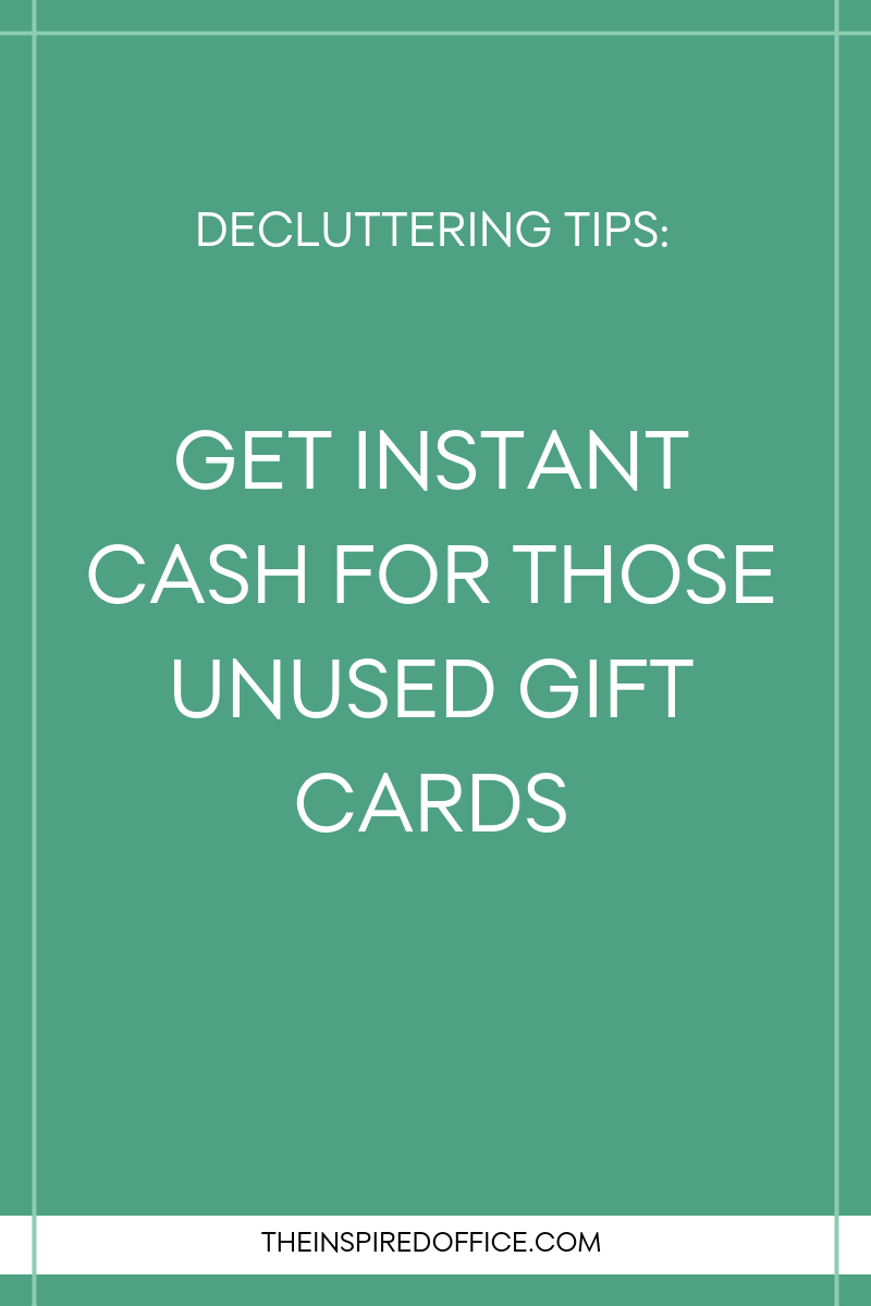 Want to cash in those unused gift cards? I've discovered a quick and easy way to do so. Click to read how.