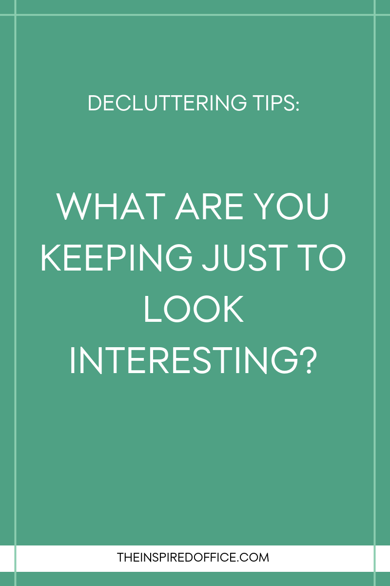 Are you holding on to things, only to impress other people? This decluttering tip will get you thinking about your possessions! Click to read!