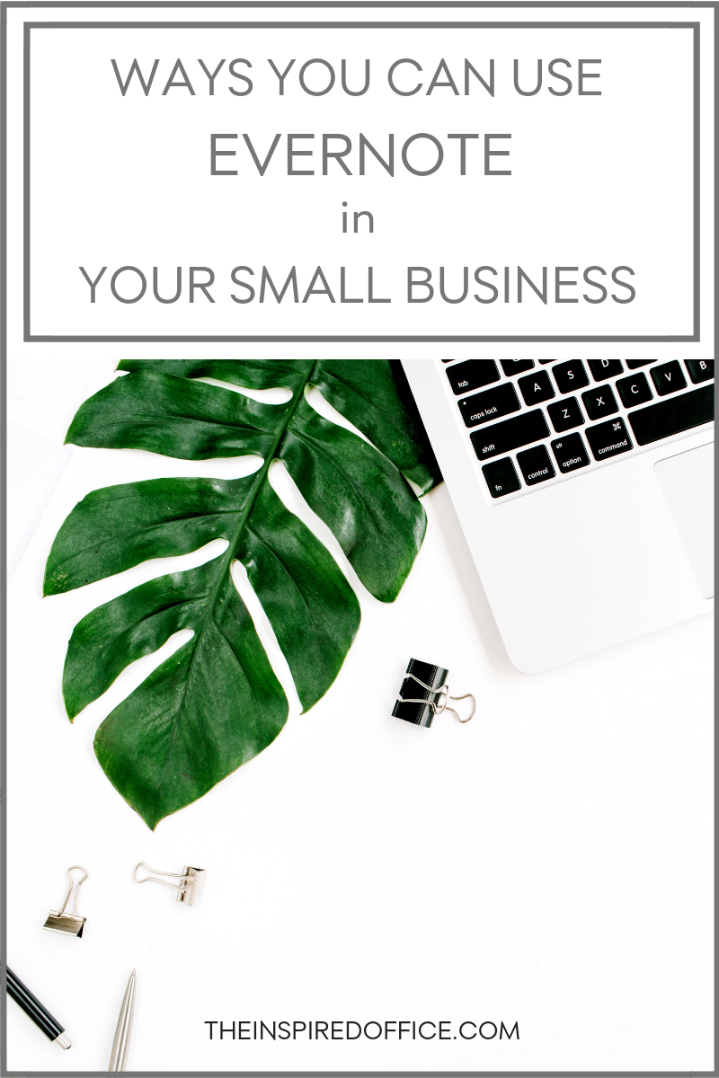 Did you know you can use Evernote to manage and organize your business? Click to learn some of my favorite tips.