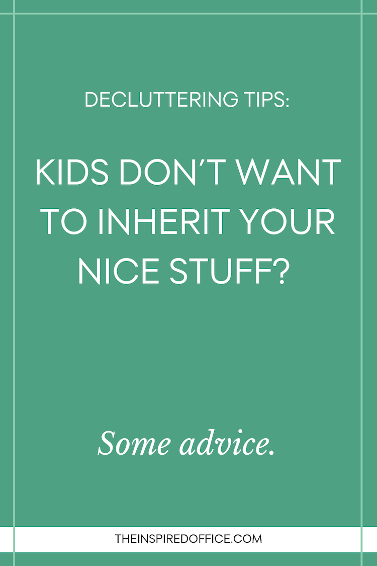 As aging parents downsize, their beloved objects don't necessarily find a warm welcome in the homes of their children. If you can relate, check out this advice…