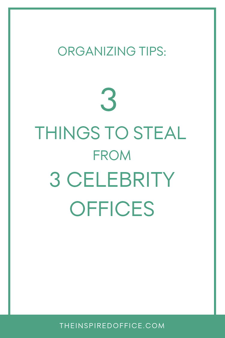 """Check out these celebrity offices and """"steal"""" their ideas!"""