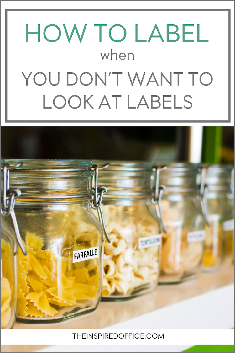 We don't always want big tacky labels when we're organizing our things…here's what to do instead!