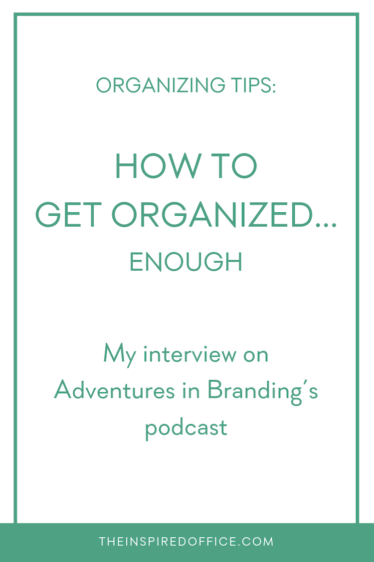 Melanie Spring is a branding expert and founder of Adventures in Branding. Listen to my interview where we talk workouts, my real-time realization that it's  ok to just be organized enough, and more!