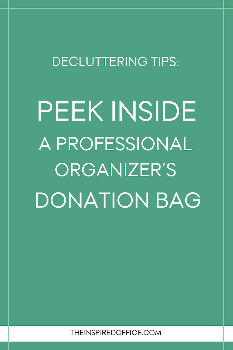 Just because I'm a professional organizer doesn't mean I'm immune to clutter! See what's in my donation bag! #decluttering