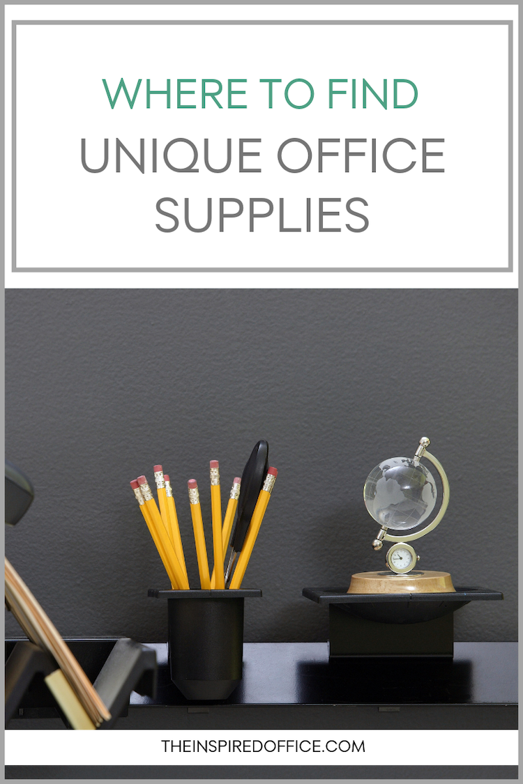 Looking for some fun, eco-friendly office supplies? Don't forget to shop these stores, you'll find some unique finds! #organizing #officesupplies