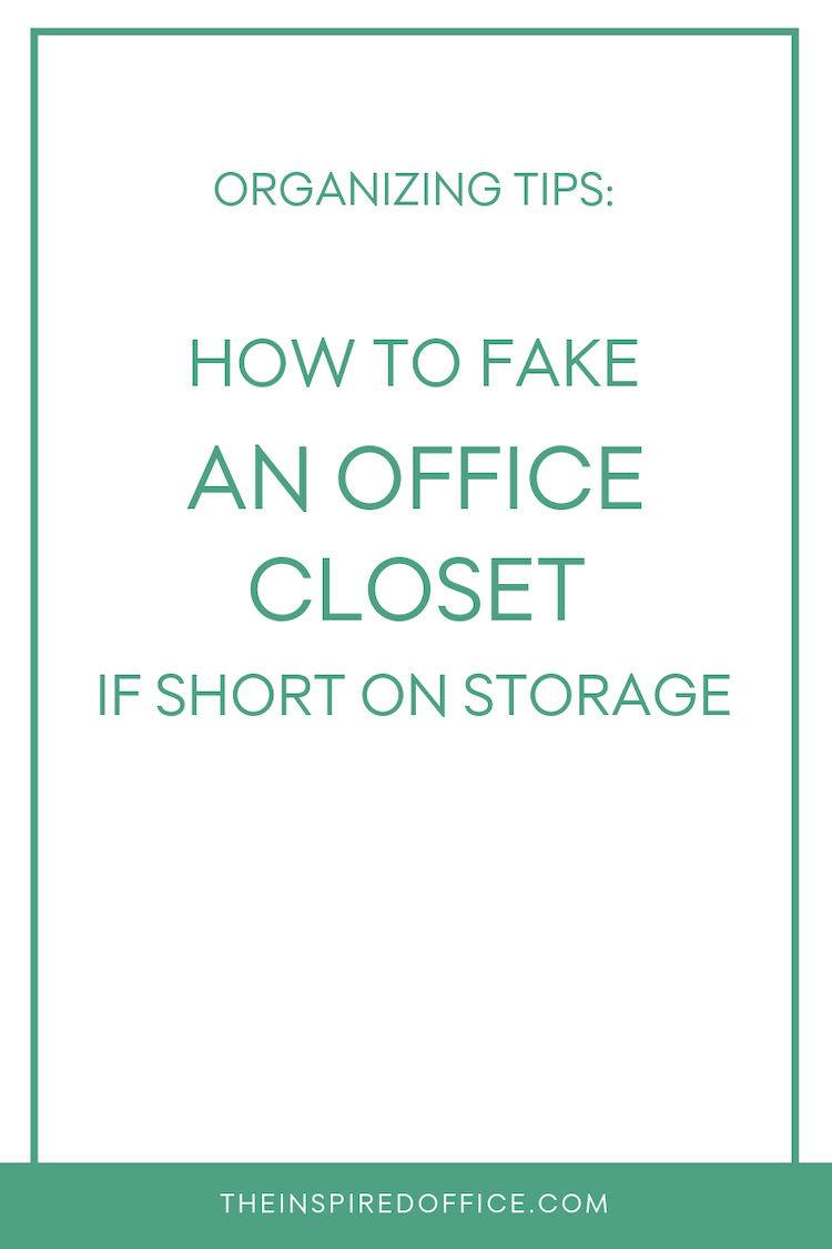 Don't have an office closet to store all of your supplies? Learn a simple way to create one… #organizing #officeorganization