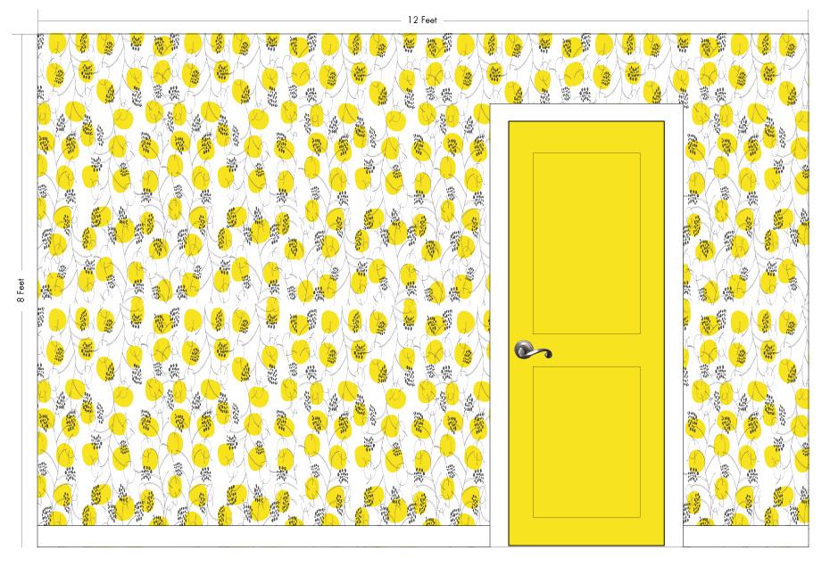 "MISS NEELY sunshine   Pattern Repeat: 14.25""w x 26""h"