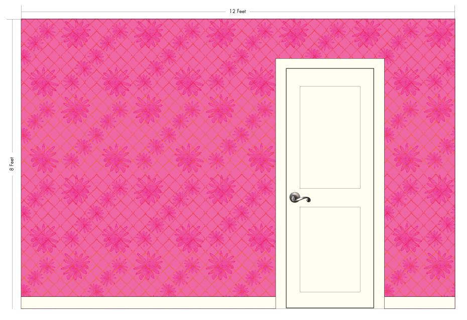 "LITTLE NORA raspberry | Pattern Repeat: 25.25""w x 27""h"