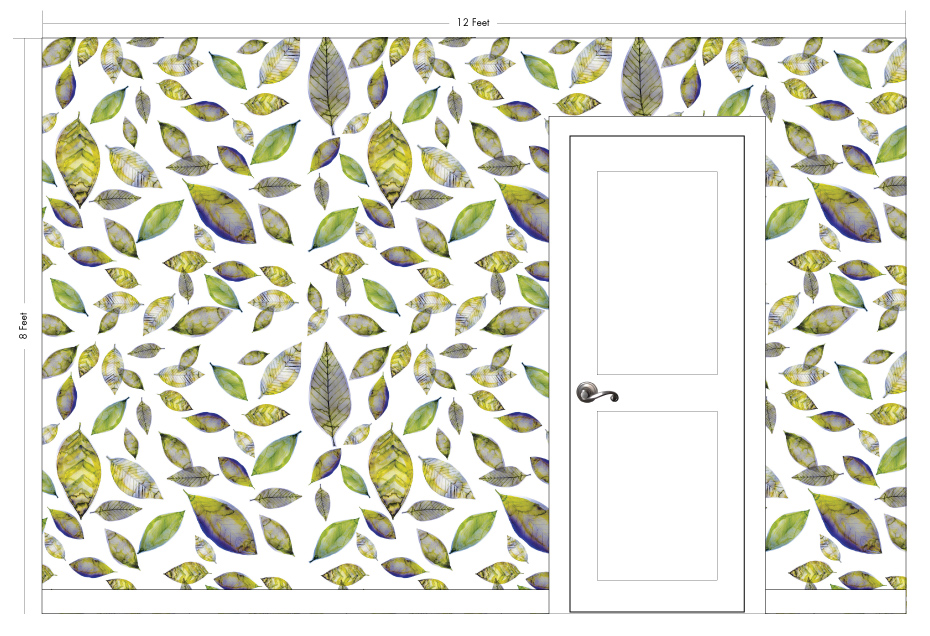 "LEIF olive | Pattern Repeat: 52""w x 52""h"