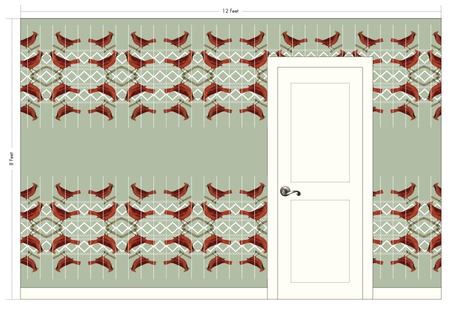 "CHARLOTTE sage | Pattern Repeat: 27""w x 36.5""h"