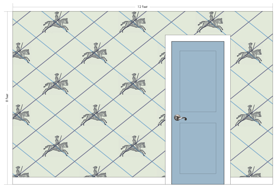 "GEORGE bone | Pattern Repeat: 43.25""w x 35.5""h"